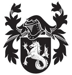 heraldic silhouette No7 vector image vector image