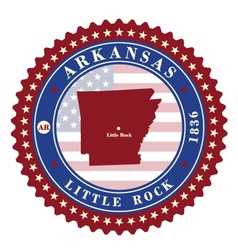 Label sticker cards of state arkansas usa vector