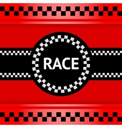 Racing background square vector image