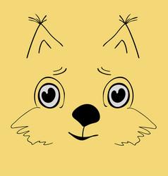 squirrel cute head cartoon vector image vector image