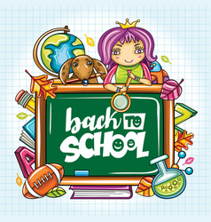 back to school banner or frame vector image