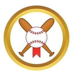 Baseball with bats icon vector image vector image