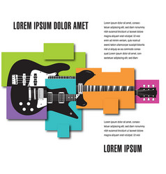 music concert poster layout template vector image vector image