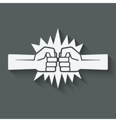 punch fists fight symbol vector image vector image