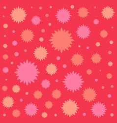 red flowers flat icon colorful background vector image