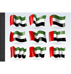 3d waving flag united arab emirates isolated vector