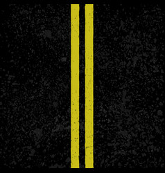 Asphalt background with lines vector