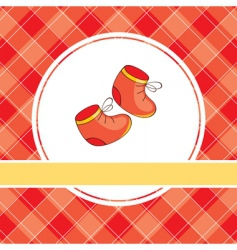 Baby booties design vector