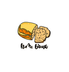 bakery poster with home bread vector image
