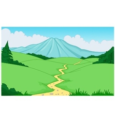 Beautiful green landscape background vector