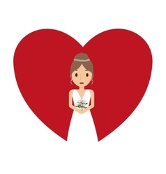 beautiful wife with heart vector image