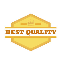 best quality shield emblem vintage badge graphic vector image