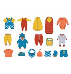Big set baby boy clothing vector