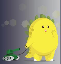 Big Yellow Monster vector