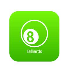 billiards icon green vector image