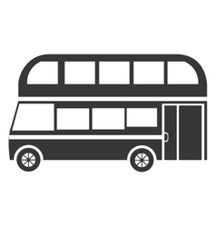 Black british bus graphic vector