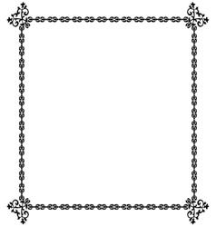 Black frame on a white vector image