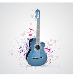 blue guitar vector image