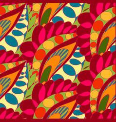 Bright seamless pattern in boho style vector