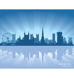 Bristol england skyline vector