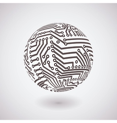 Circuit board sphere vector