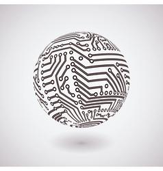 Circuit board sphere vector