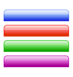 colorful web bars tabs buttons vector image