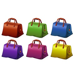 Colourful handbags vector image