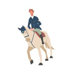 cowboy character ride horse a man rides a horse vector image