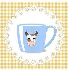 Cup of milk vector