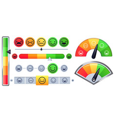 Customer satisfaction meter scale customer rate vector