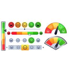 Customer satisfaction meter scale rate vector