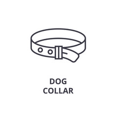 Dog collar line icon outline sign linear symbol vector