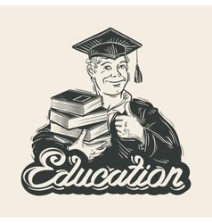 Education logo design template Graduate vector