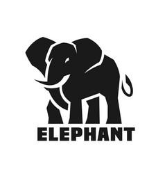 Elephant monochrome logo vector