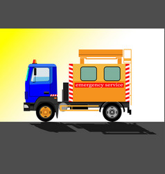 emergency service car vector image