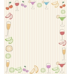Frame with cocktails vector image
