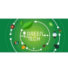 Green tech eco environment friendly technology vector