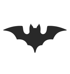 Halloween Bat Icon on White Background vector image