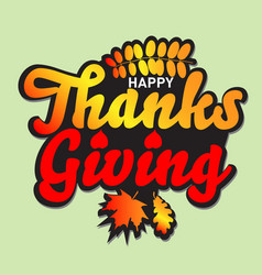 happy thanksgiving greeting card or background ve vector image