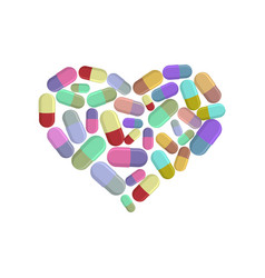 heart pills i love dope i like pill vector image