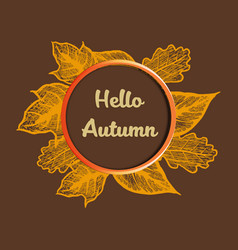 hello autumn banner vector image