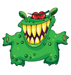 laughing green monster vector image
