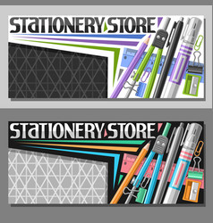 Layouts for stationery store vector