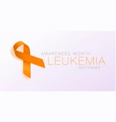 Leukemia awareness calligraphy poster design vector