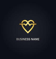 love valentine sign logo vector image