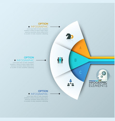 modern infographic design layout 3 connected vector image