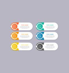 modern infographics business banner design vector image