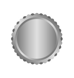modern metal silver circle metal badges labels vector image