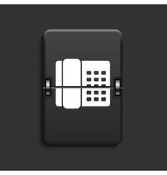 modern scoreboard black icon vector image vector image